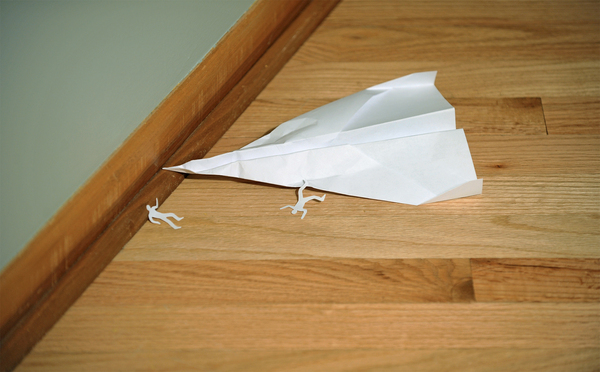 Fatal Paper Airplane Crash by Brock Davis