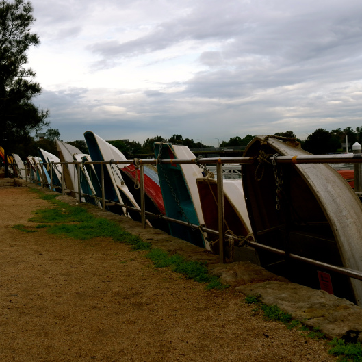 Dinghies at Leichhardt (Image by TSL)