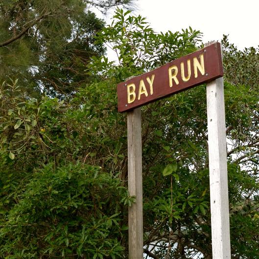 Iron Cove Bay Run Sign
