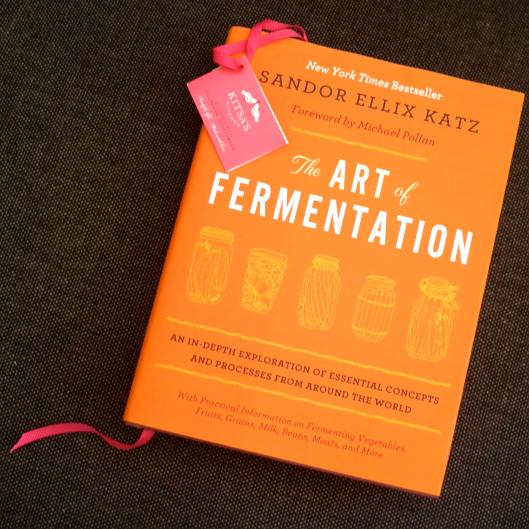 'The Art of Fermentation' by Sandor Ellix Katz You'll note my beautiful bookmark courtesy of Kitsa's Kitchen! (Image by TSL)