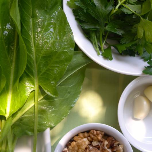 Sorrel Pesto Ingredients