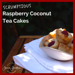 Coconut and Raspberry Tea Cakes