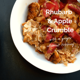 Rhubarb and Apple Crumble