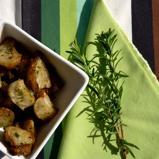 Roasted Jerusalem Artichokes with Rosemary Salt