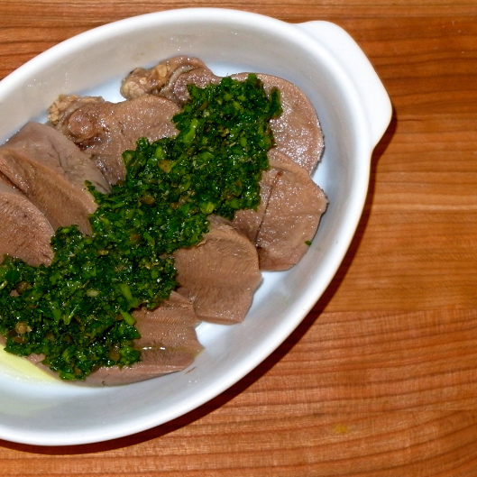 Ox Tongue with Green Caper Sauce | TSL