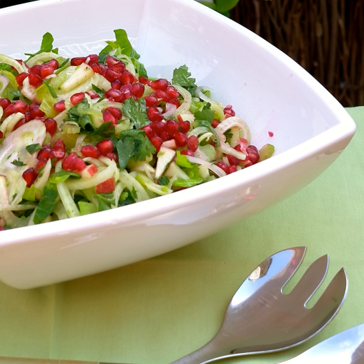 TSL Fennel, Celery, Apple and Pomegranate Salad