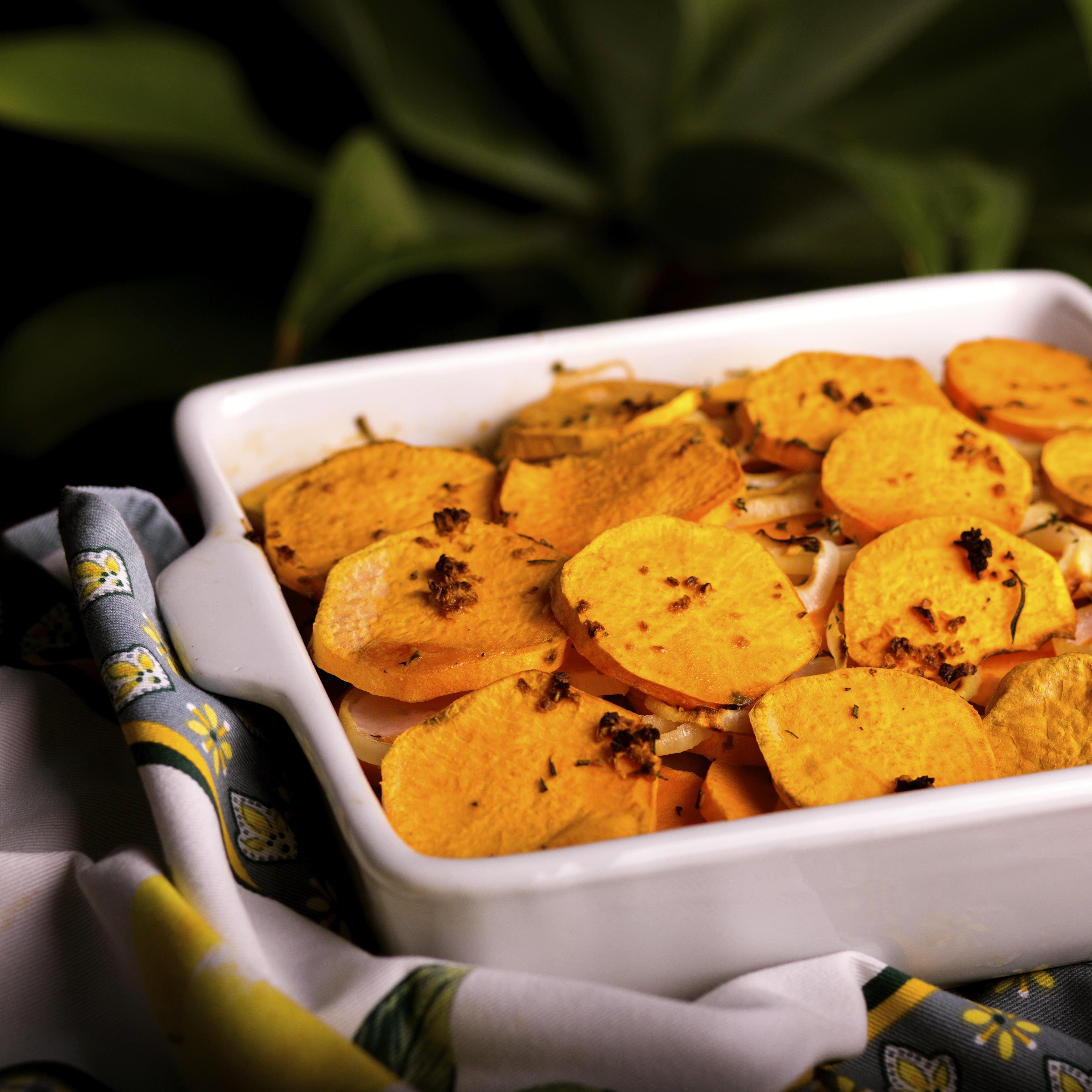HWKIP Scalloped Sweet Potatoes