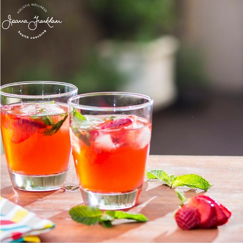 JFC Strawberry-Mint Iced Tea