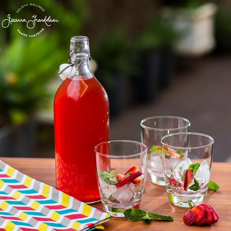 JJFC Strawberry-Mint Iced Tea