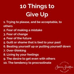 JFC 10 Things to Give Up