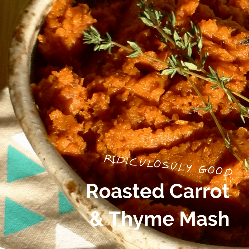 Carrot and Thyme Mash