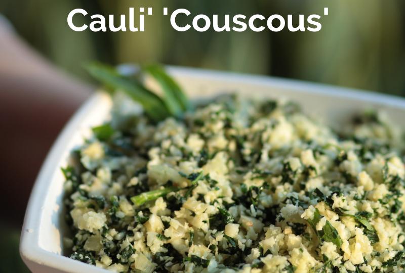 Kale and Preserved Lemon Couscous Cauliflower Rice