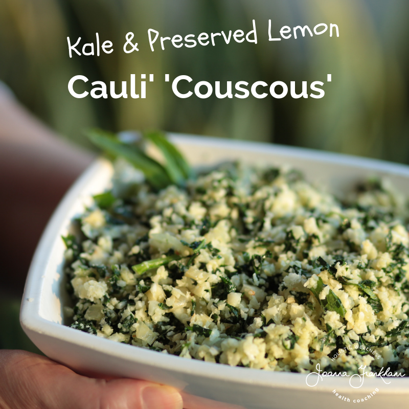 Kale and Preserved Lemon Couscous Cauliflower Rice