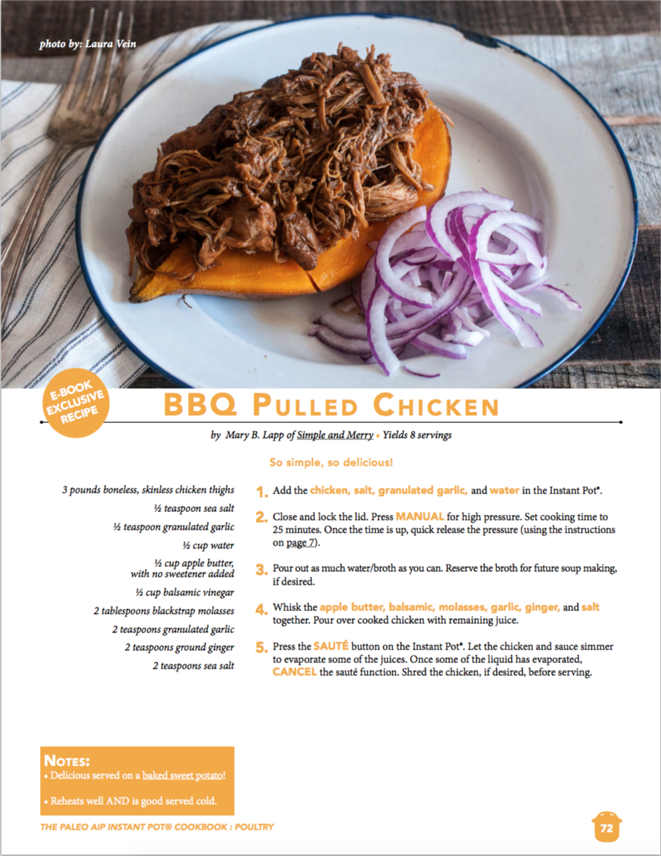Simple and Merry BBQ Pulled Chicken