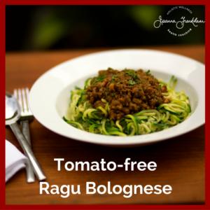 Tomato Free Ragu Bolognese