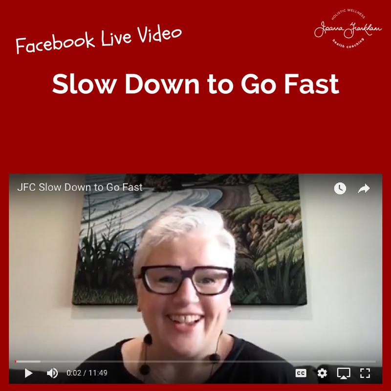 Joanna Frankham Coaching - Slow Down to Go Fast Video