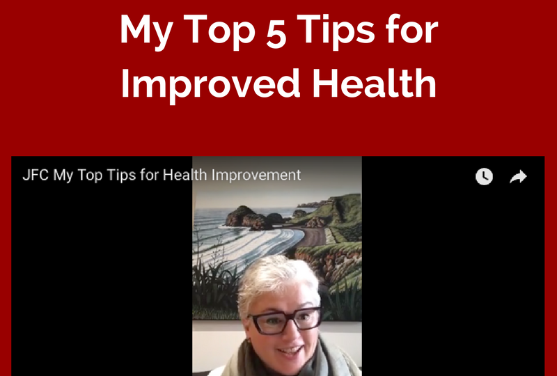Joanna Frankham Coaching - Top 5 Tips for Health Video