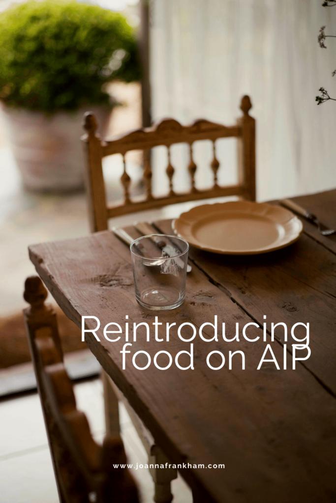 Reintroducing food on AIP