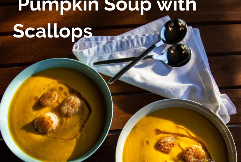Pumpkin Soup with Scallops