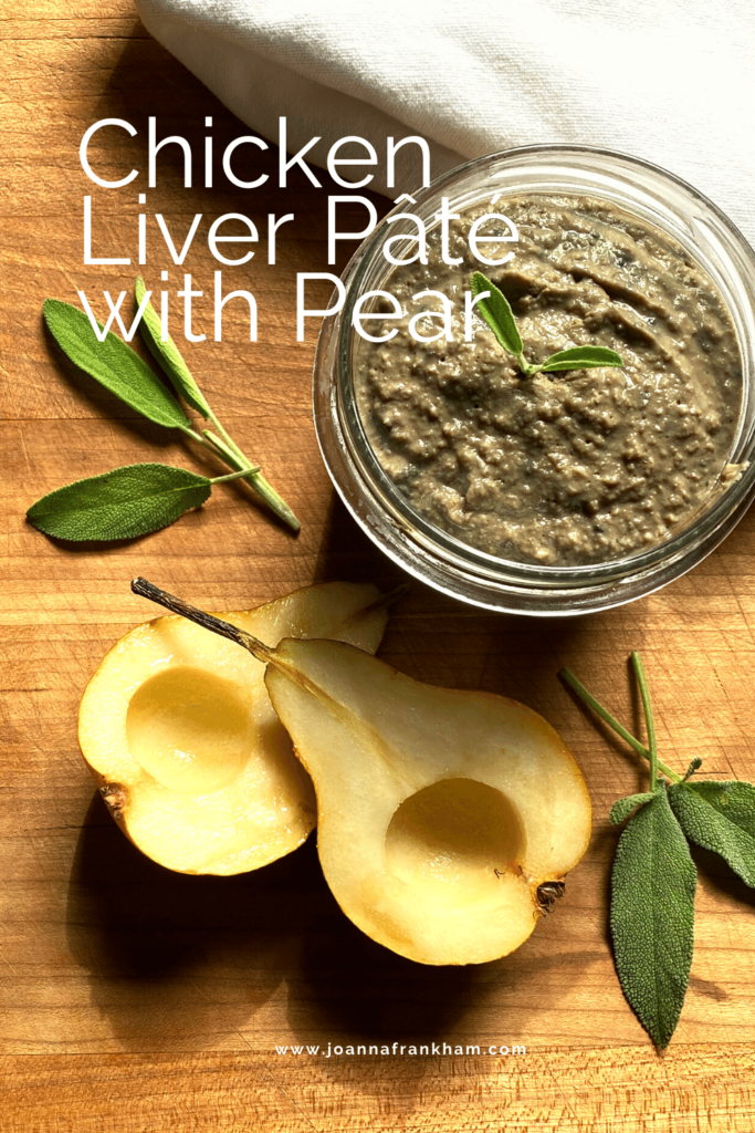 Chicken Liver Pate with Pear