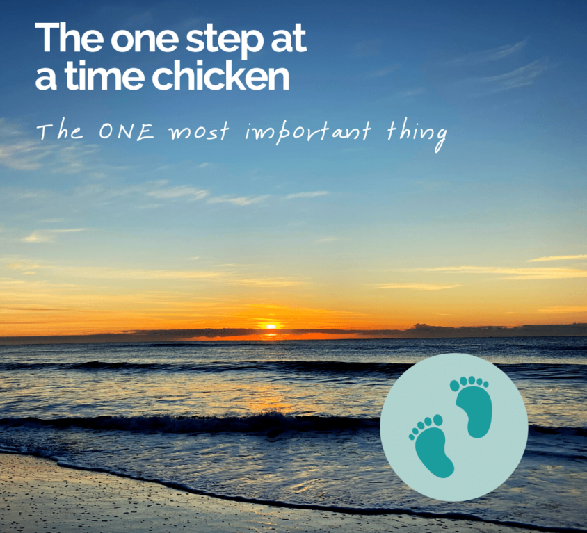 The do one thing at a time chicken